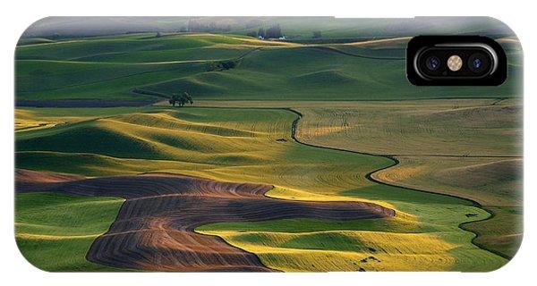 Rural iPhone Case - Palouse Shadows by Mike  Dawson
