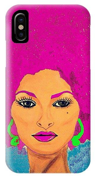 Pam Grier Bold Diva C1979 Pop Art IPhone Case