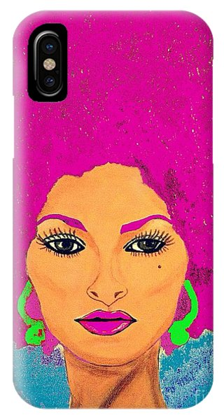 Pam Grier Bold Diva C1979 Pop Art IPhone Case