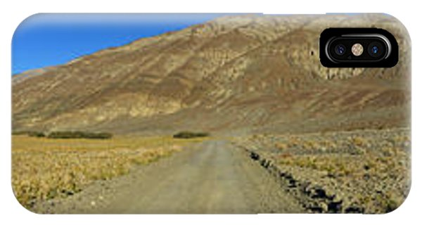 Panamint Mountains Panorama November 16 2014 IPhone Case