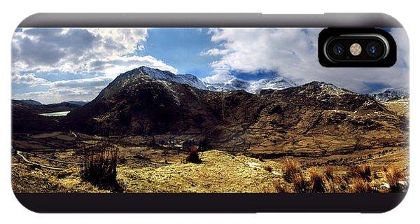 Panaramic Snowdonia Mountains IPhone Case