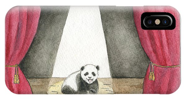 Panda Cub On Center Stage Phone Case by Erica Vojnich