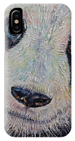 I Love You iPhone Case - Panda Portrait by Michael Creese