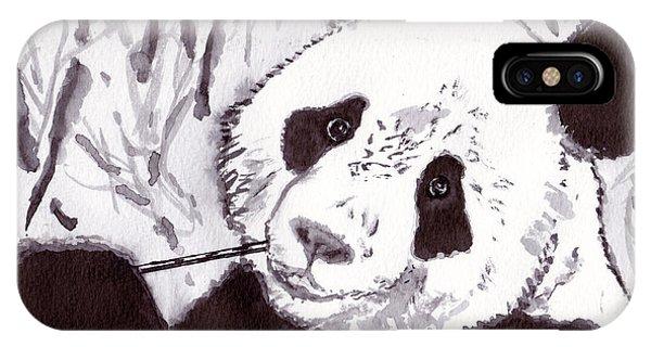 iPhone Case - Panda by Michael Rados