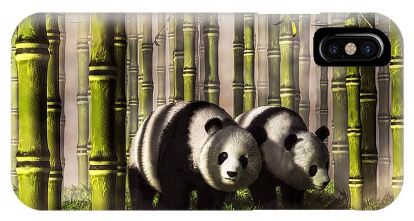Pandas In A Bamboo Forest IPhone Case