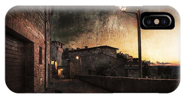 Texture iPhone Case - Panicale At Sunset by Nicodemo Quaglia