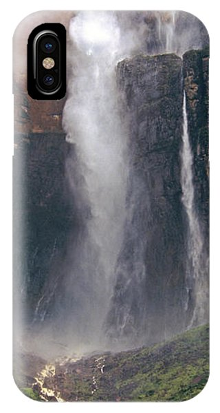 Panorama Angel Falls In Canaima National Park Venezuela IPhone Case