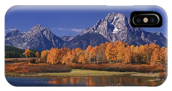 Panorama Fall Morning Oxbow Bend Grand Tetons National Park Wyoming IPhone Case