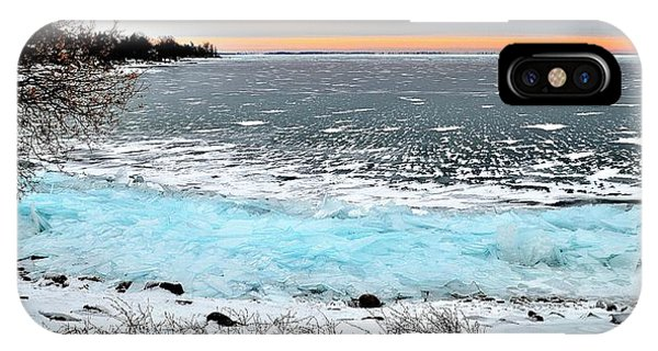 Panorama Freeze - Horsey Bay - Kingston - Canada IPhone Case