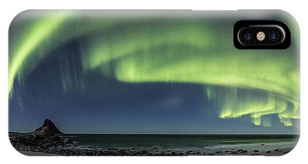 Panorama Of Auroras IPhone Case