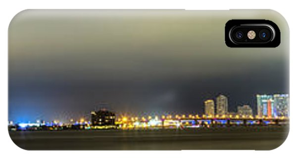 Panorama Of Biscayne Bay In Miami Florida IPhone Case