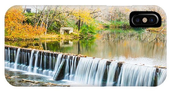Panorama Of Buck Creek In Autumn IPhone Case
