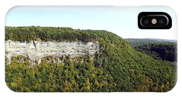 Panorama Of Cliff At Letchworth State Park IPhone Case