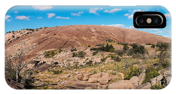 Panorama Of Enchanted Rock State Natural Area - Fredericksburg Texas Hill Country IPhone Case