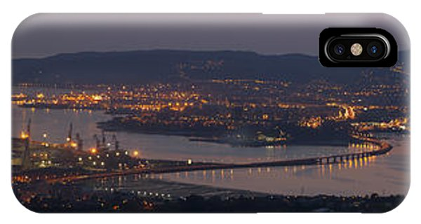Panorama Of Ferrol From Mount Marraxon Galicia Spain IPhone Case