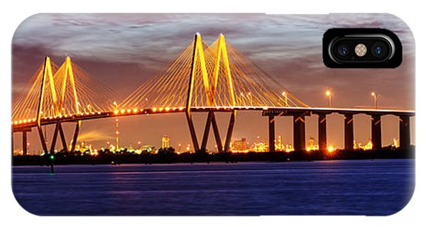 Panorama Of Fred Hartman Bridge IPhone Case