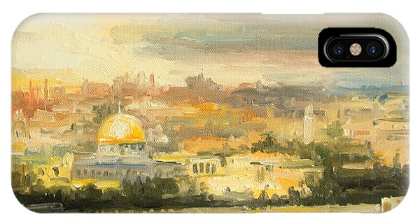Panorama Of Jerusalem IPhone Case