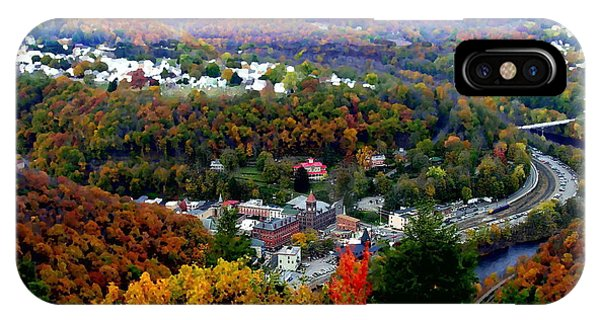 Panorama Of Jim Thorpe Pa Switzerland Of America - Abstracted Foliage IPhone Case
