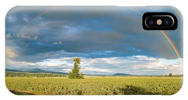 Wheeler Farm iPhone Case - Panorama Rainbow by James Wheeler