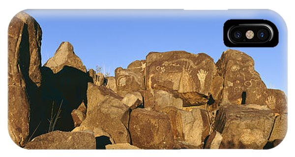 Panoramic Image Of Petroglyphs At Three IPhone Case