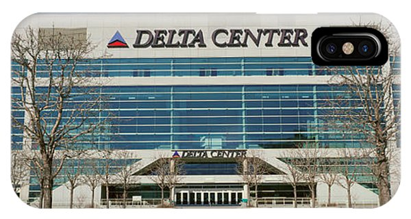Panoramic Of Delta Center Building IPhone Case