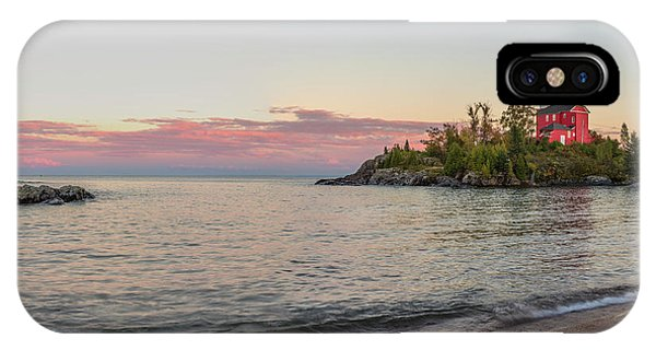 Lake Superior iPhone Case - Panoramic Of The Marquette Harbor by Chuck Haney
