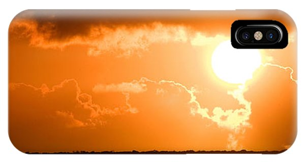 IPhone Case featuring the photograph Panoramic Photo Of Sunset At Monkey Mia  by Yew Kwang