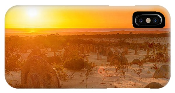 IPhone Case featuring the photograph Panoramic Photo Of Sunset At The Pinnacles by Yew Kwang