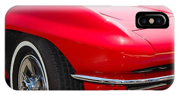 panoramic red Corvette IPhone Case