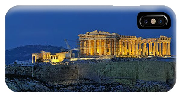 Panoramic View Of Acropolis Of Athens IPhone Case