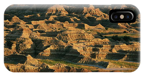 North Dakota Badlands iPhone Case - Panoramic View Of The Badlands Sage by Annie Griffiths