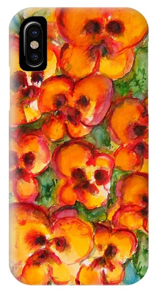 Pansies Love Us IPhone Case