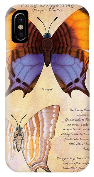 Pansy Daggerwing Butterfly Phone Case by Tammy Yee