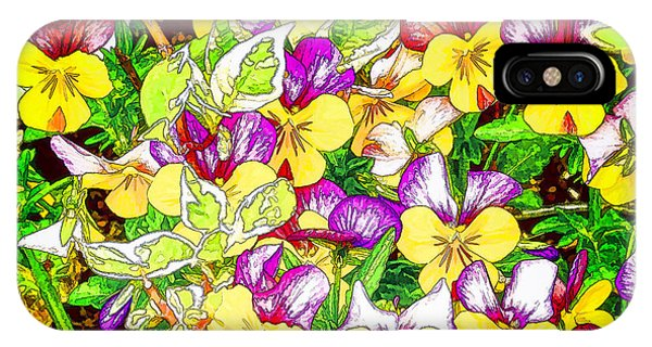 Pansy Party IPhone Case