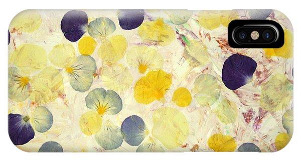 Petals iPhone Case - Pansy Petals by James W Johnson