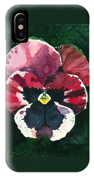 Pansy Red IPhone Case