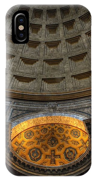 IPhone Case featuring the photograph Pantheon Ceiling Detail by Michael Kirk