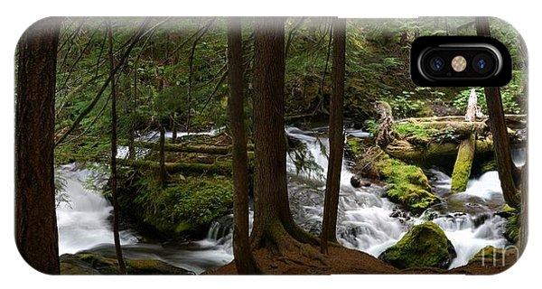 Panther Creek Panorama- Washington IPhone Case