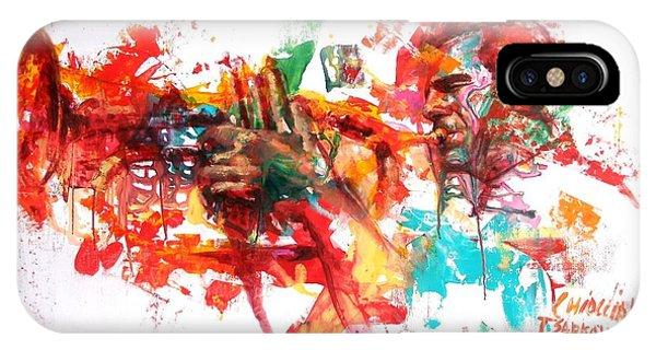 Trumpet iPhone Case - Paolo Fresu by Massimo Chioccia