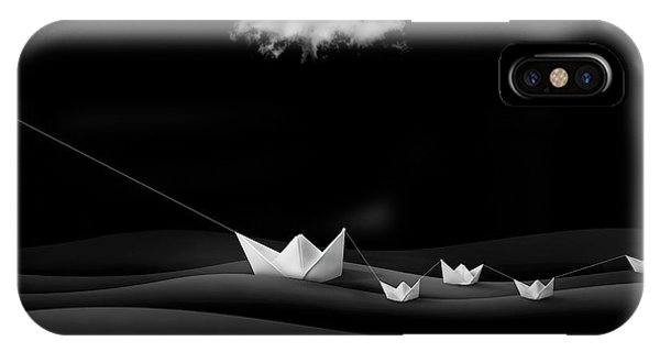 Dove iPhone Case - Paper Boats by Sulaiman Almawash