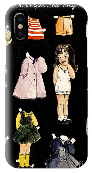 Paper Doll Amy IPhone Case