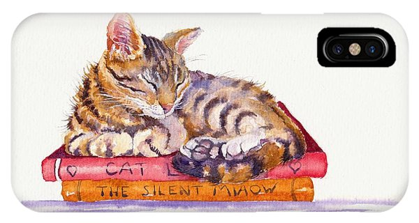 Cat iPhone Case - Paperweight by Debra Hall