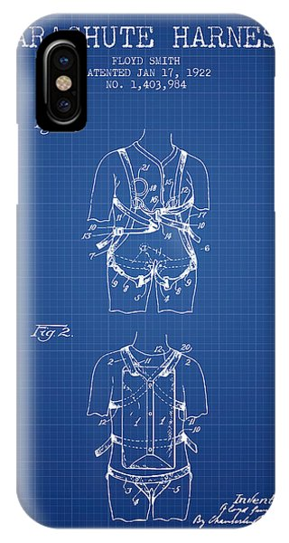 Parachute Harness Patent From 1922 - Blueprint IPhone Case