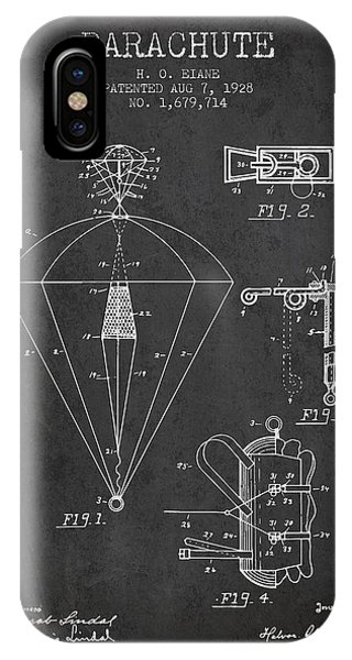 Parachute Patent From 1928 - Charcoal IPhone Case