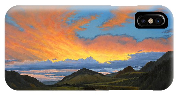 Yellowstone iPhone Case - Paradise Valley Sunset  by Paul Krapf