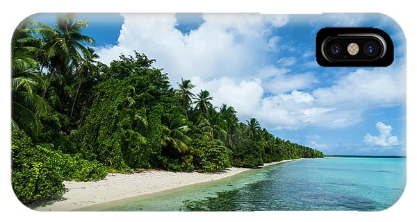 Micronesia iPhone Case - Paradise White Sand Beach In Turquoise by Michael Runkel