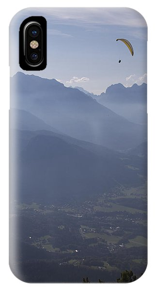 Paraglider's View IPhone Case