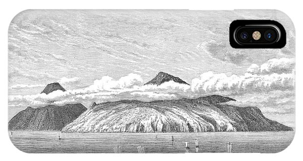 Pacific Ocean iPhone Case - Paramushir, A Volcanic Island by Mary Evans Picture Library