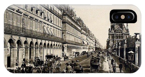 Paris 1900 Rue De Rivoli IPhone Case