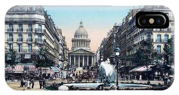 Paris 1910 Rue Soufflot And Pantheon IPhone Case